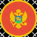 Montenegro Flag Country Icon
