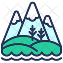 Montenegro Mountains Hills Icon