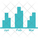 Monthly Accounting Bar Icon