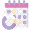 Monthly Chart Monthly Graph Date Icon