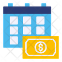 Monthly Salary Financial Month Financial Year Icon