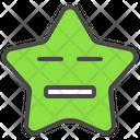 Moody Emoticon Star Icon