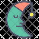 Moon Half Moon Character Icon