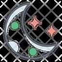 Moon Planetoid Earth Satellite Icon