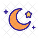 Space Moon Star Icon