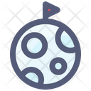 Moon Flag Space Icon