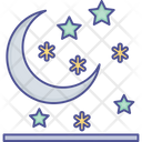 Moon Night Snow Falling Icon