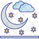 Clouds Moon Nature Icon
