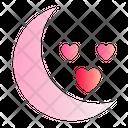 Moon Love Romance Icon