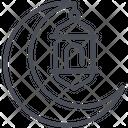 Crescent Festival Islam Icon