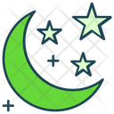 Halloween Moon Stars Icon