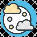 Moon Cloud Raindrops Icon