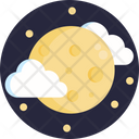 Moon Cloud Climate Icon
