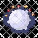 Moon Galaxy Space Icon