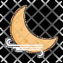 Moon Cloud Wind Icon