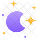 Moon Half Moon Night Moon Icon