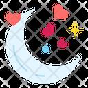 Moon Date Night Heart Icon