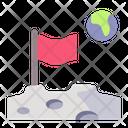 Moon Flag Space Icon
