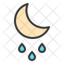 Moon Night Rainfall Icon