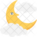 Moon Clouds Night Icon