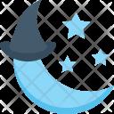 Moon Stars Hat Icon