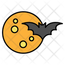 Moon Bat Sky Icon