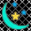 Half Moon Stars Space Icon