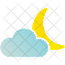 Moon And Cloud Cloud Cloudy Icon