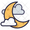Moon Cloud Night Icon