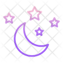 Imoon And Stars Moon And Star Star Icon