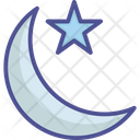 Moon And Star Crescent Islamic Symbol Icon