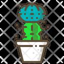 Moon Cactus Succulent Icon