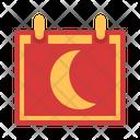 Moon Calendar Night Icon