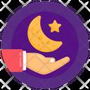 Ramadan Moon Care Crescent Care Icon