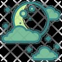 Moon Cloud Night Full Icon