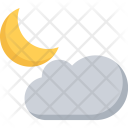 Moon Cloud Nature Icon