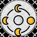 Moon Phases Crescent Half Moon Icon