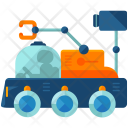 Moon Rover Exploration Icon