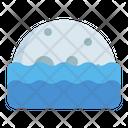 Moonrise Moonset Sea Icon