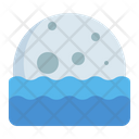 Moonrise Moonset Sea Icon