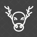 Moose Reindeer Celebration Icon