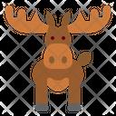 Moose Animal Wildlife Icon