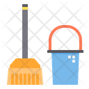 Mop Cleaning Equipment Brush Icon
