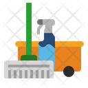Mop Cleaning Tools Liquid Icon