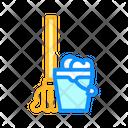 Mop Bucket Color Icon