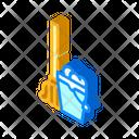 Mop Bucket Isometric Icon