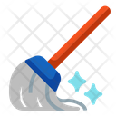 Mop Cleaning Home Icon