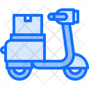Moped Box Delivery Icon