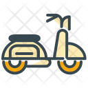 Moped Scooter Bike Icon