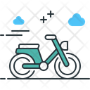 Moped Vehicle Transport Icon